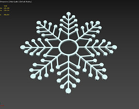 Snowflake Shape 3D Printing Model