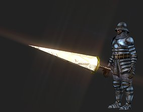 Metal mechanical lance 3D asset