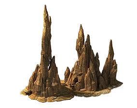 Battlestar - Desert Bizarre Boulder 02 3D