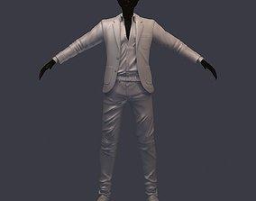 stylish subdivision base avatar male costume 3D model 2