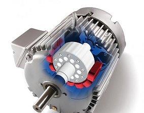 AC asynchronous moving motor 3D model
