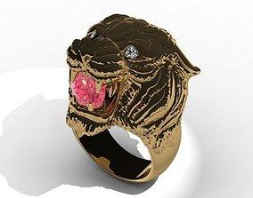 cheetah 3D print model Pantera ring