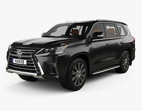 Lexus LX with HQ interior 2016 3D