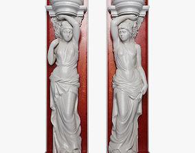 3D asset Caryatid Sculpture