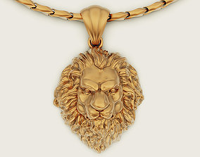 lion 3D printable model Lion pendant