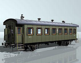 passenger two-axles wagon 3D model