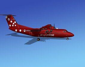 3D Dehavilland DHC-7 Air Greenland