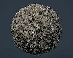 3D Rock Ground Seamless PBR Texture 01