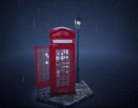 London Telephone Booth 3D model