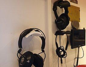 Headphones wall mount 3D printable model