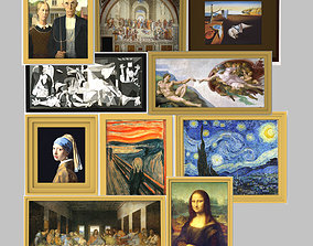 Famous paintings pack for 3D printing