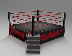3D model RAW Superstar Wrestling Ring