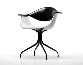 Swag Leg Armchair 3D model