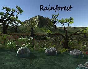 3D model Rain forest