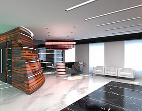 3D asset Hall Lobby Interior