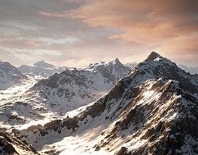 Mountain Winter and Summer 3D asset