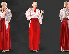 Female Flower Kimono - 60 Marvelous Designer and Clo3D