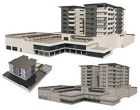 3D model Hotel Building 1