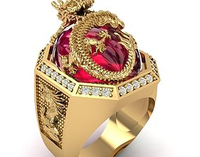 61 Luxury Dragon Ring or Lord of Ring 3D printable model