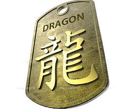 Dragon Chinese Zodiac Pendant design 3D print model