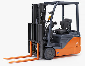 Toyota Comfortably Electric Forklift 3D