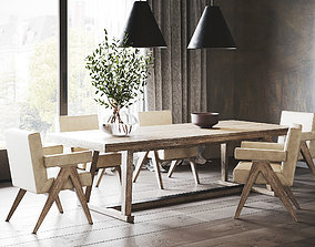 3D model Rustic Dining Room Interior ID299