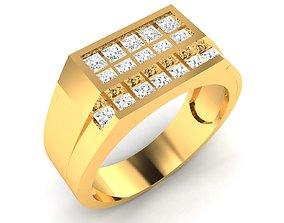 Men groom solitaire ring 3dm render detail mens