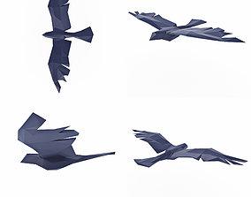 3D asset Bird Low Poly
