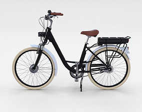 Electric City Bicycle Black 3D