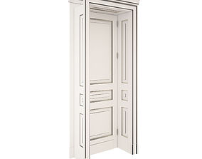 Classic Door white with patina 3D
