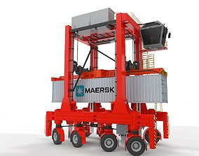 3D animated Straddle Carrier for Port