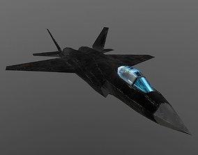 Shenyang J-31 3D model low-poly