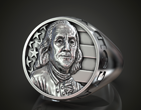 Ring Benjamin Franklin USA Flag 3D printable model