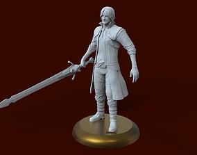 Devil May Cry character Dante 3D print model