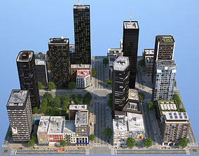 3D asset Dunkel City