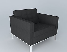 3D Florence Knoll Lounge chair