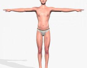 Sexy Young Man A3 3D asset