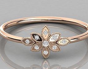 Women ring 3dm stl render detail printable gold
