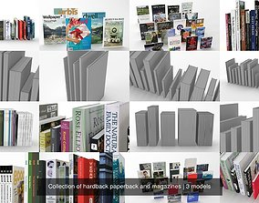 Collection of hardback paperback and magazines 3D