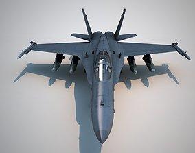 F-18 fighter F18 AC F-18 Hornet three types of 3D asset