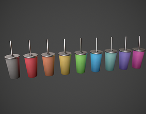 3D asset Tumbler with Straw - Colour Variations