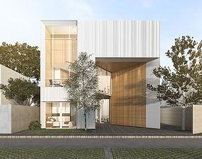 Modern white house 3D