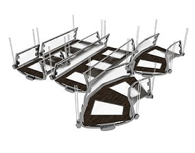 3D asset Suspended Glass Walkway Segments