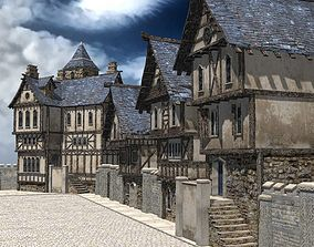 Medieval Street for 3ds obj Unity VR / AR ready