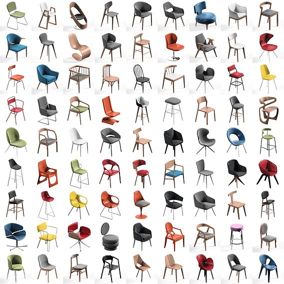 Chair Mega Pack collection 115x