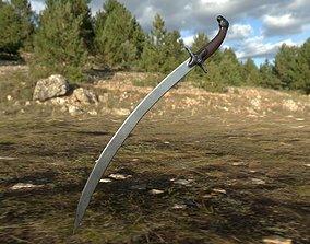 3D asset Old saber