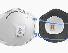 Mask Particulate Respirator 8271 3D asset game-ready
