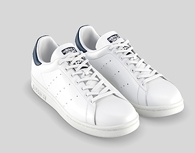 adidas stan smith blue 3D model