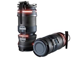 Scifi Grenade 3D asset realtime