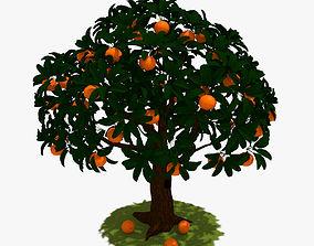Cartoon Orange Tree 3D model